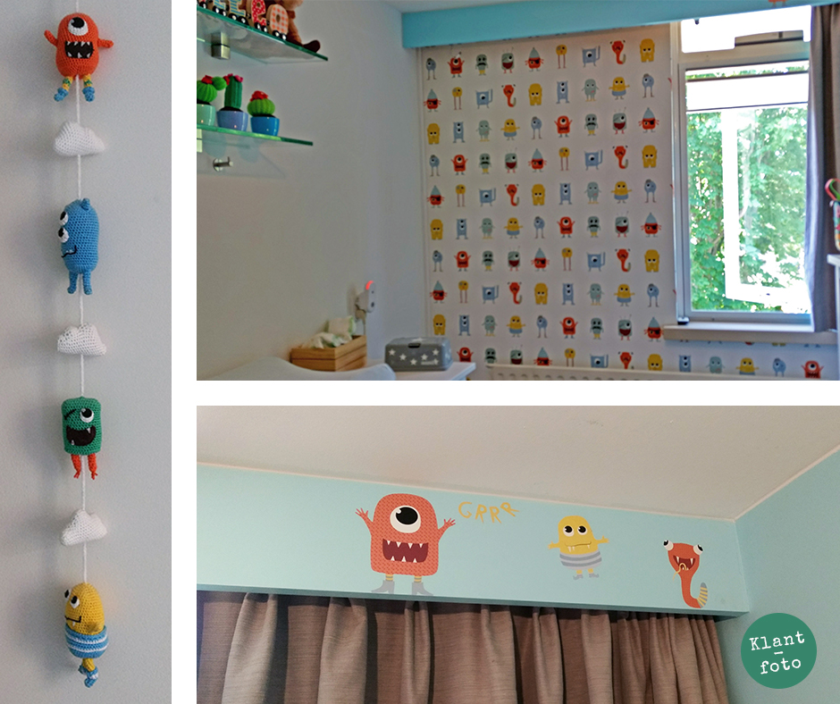 Kinderkamer behang monsters van Perron 11 klantfoto