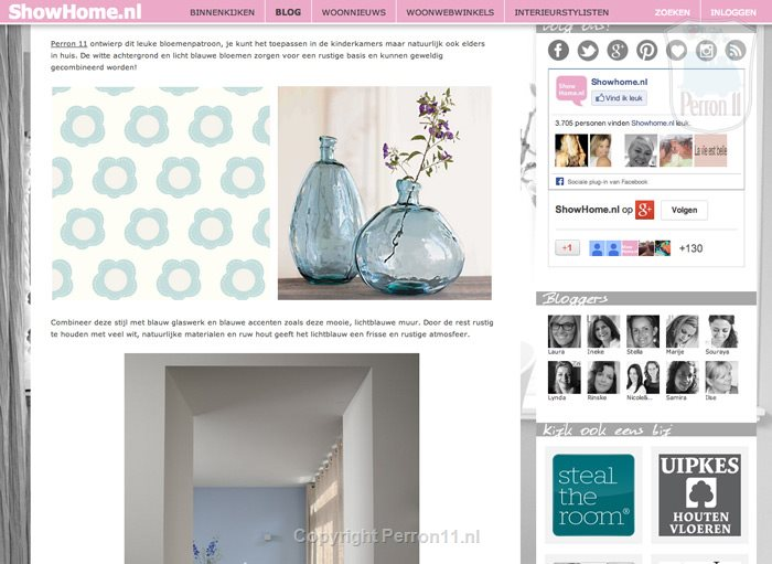 Show Home blog about Perron 11 nursery wallpaper