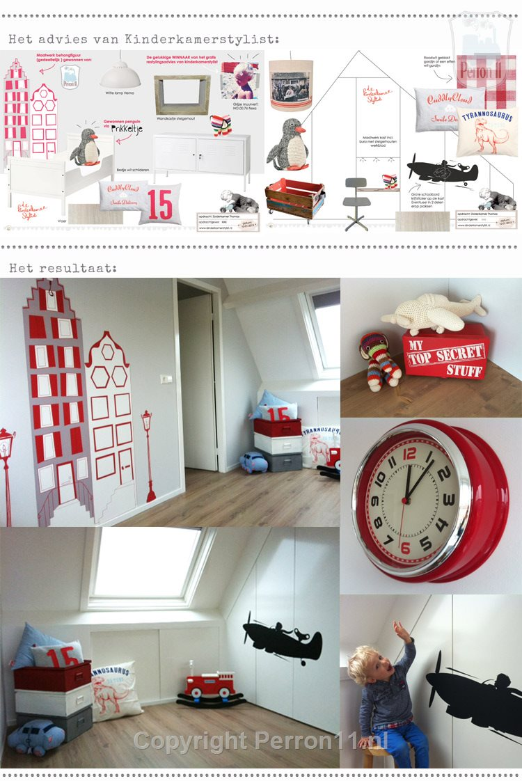 tough guys room in red and gray papered houses