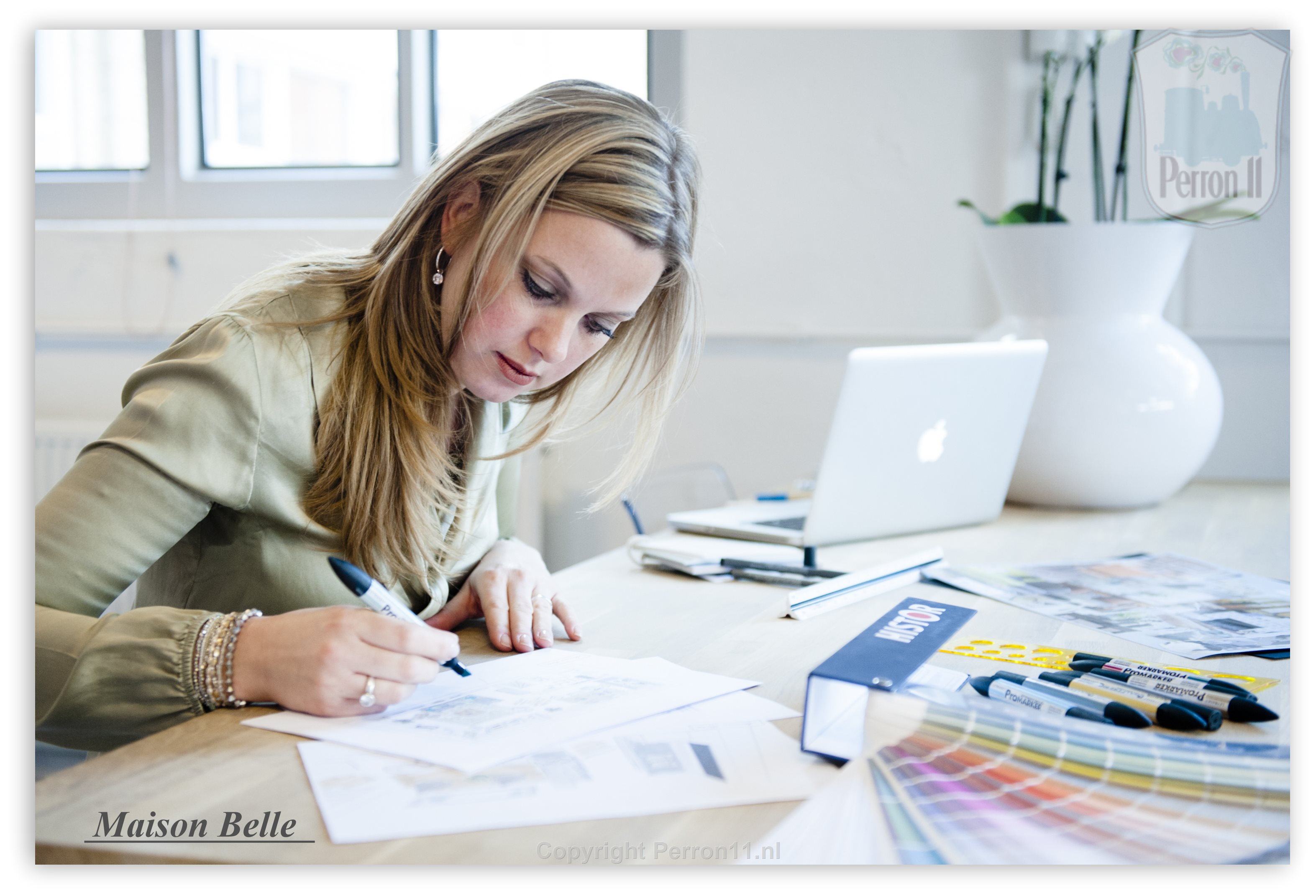 interior designer Marije Maison Belle at work