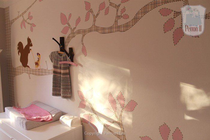 children's nursery room wallpaper girl