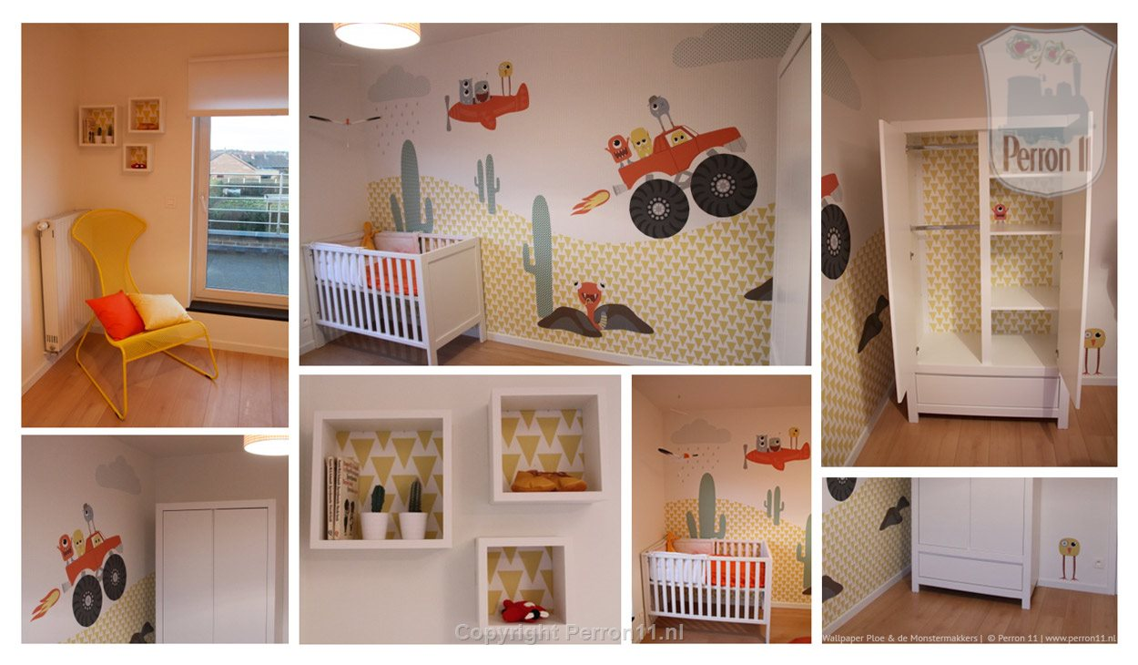 nursery wallpaper sample with atmospheric images and pictures